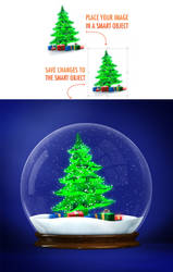 Snow Globe + Animated Snow by GraphicAssets