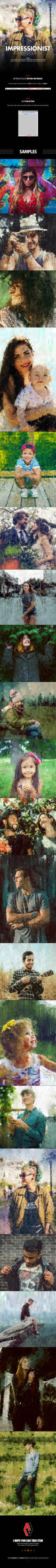 Impressionist Photoshop Action by GraphicAssets