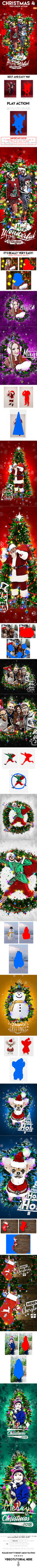 Christmas 4 Photoshop Action by GraphicAssets