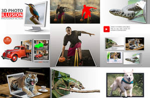 3D Photo Illusion Photoshop Action by GraphicAssets