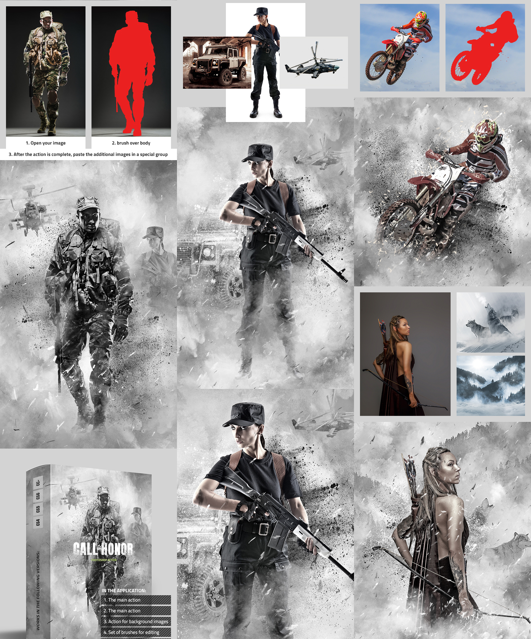 Call of Honor Photoshop Action by GraphicAssets