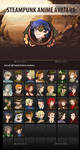 Steampunk Anime Avatars by GraphicAssets