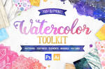 New Watercolor Texture Toolkit