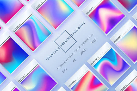 Creative and Vibrant Gradients Set by GraphicAssets