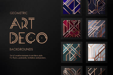 Art Deco Backgrounds by GraphicAssets