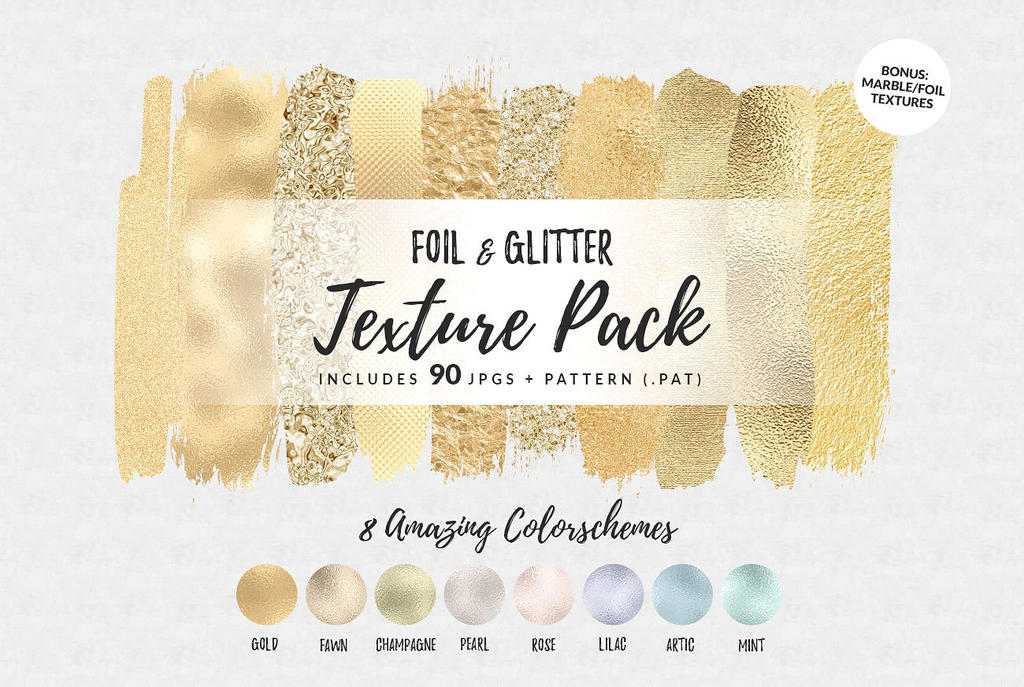 Foil and Glitter Texture