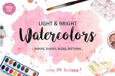 Watercolor Textures. Light and Bright