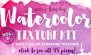 Watercolor Texture Kit Vol. 2 by GraphicAssets