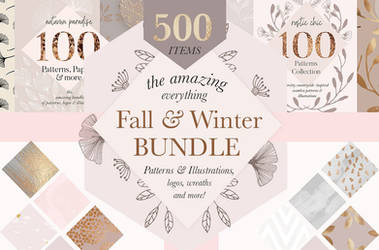 Fall Winter Sale Pattern Bundle by GraphicAssets