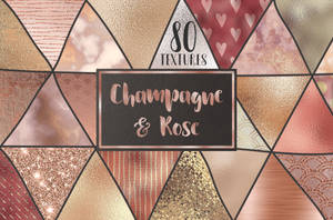 Rose gold and champagne textures by GraphicAssets