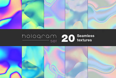 20 Holographic seamless textures by GraphicAssets
