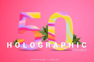 50 Holographic Backgrounds by GraphicAssets