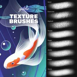 Texture Brushes for Procreate and Photoshop by GraphicAssets
