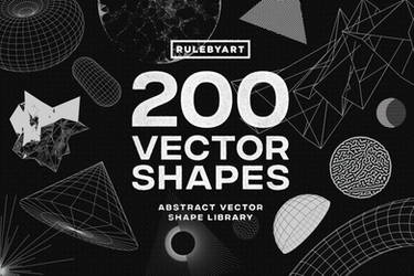200 Vector Shapes,Graphics