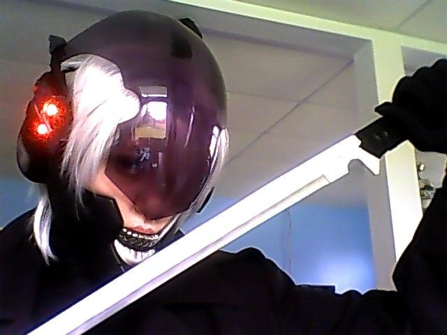 MGS - Raiden Helmet WIP by KawaiiBakaNekoDesu