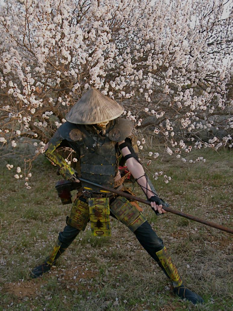 post apocalyptic Samurai by Owen505Gray