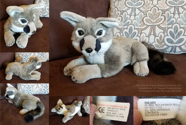 Gray Kit Fox by K M International, Inc by AhrendalePlush