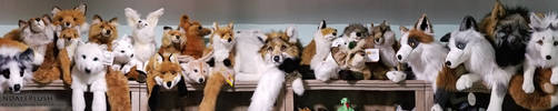 Fox Plush Shelf by AhrendalePlush