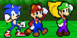 New Palette for Mario, Luigi, and Sonic