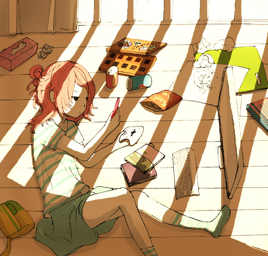 Image result for anime lazy in bed