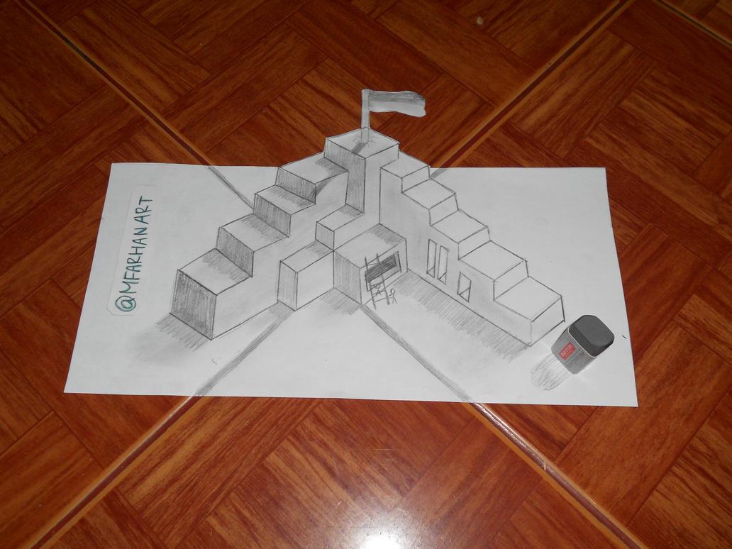 3d Drawing Simple By Muhamadfarhanali On Deviantart
