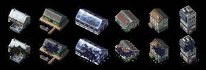 Pixel Buildings by AlbertoV