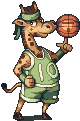 Giraffe - The basketball player by AlbertoV