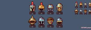 Battle Helmets by AlbertoV