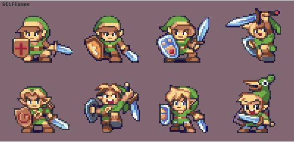 Legend of Zelda - Link Designs by AlbertoV
