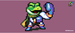 Chrono Trigger Frog Victory Pose by AlbertoV
