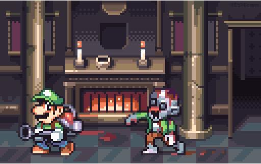 Luigi's Mansion by AlbertoV