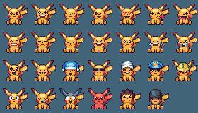 Pikachu emoticons