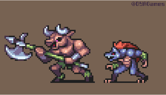 Castlevania Bosses (Minotaur and Werewolf)