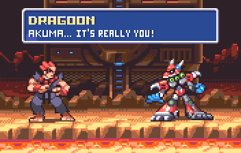 Akuma vs Dragoon by AlbertoV