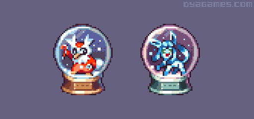 Pokemon Snow Globe by AlbertoV