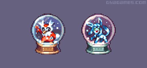 Pokemon Snow Globe by AlbertoV