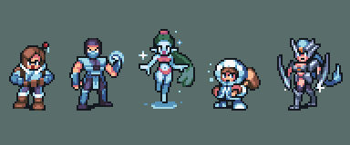 Icey videogame characters