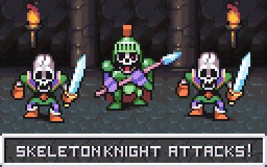 Dragon Quest battle by AlbertoV