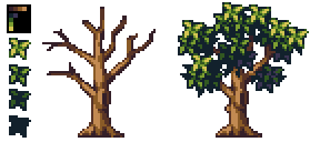 Pixel Art - Tree by AlbertoV