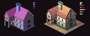 Pixel Art - Isometric House