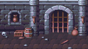 Pixel Art - Dungeon Background (Loopable)