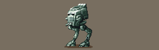 Pixel Art - Star Wars (AT-ST) by AlbertoV