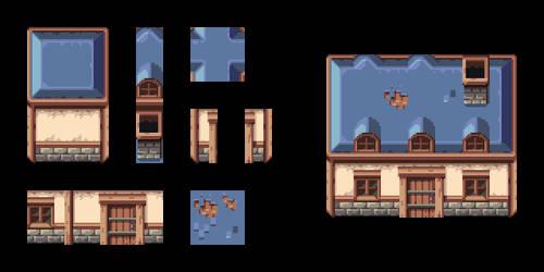TUTORIAL - Pixel Art House Tileset by AlbertoV