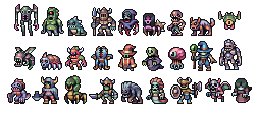 Set of monsters