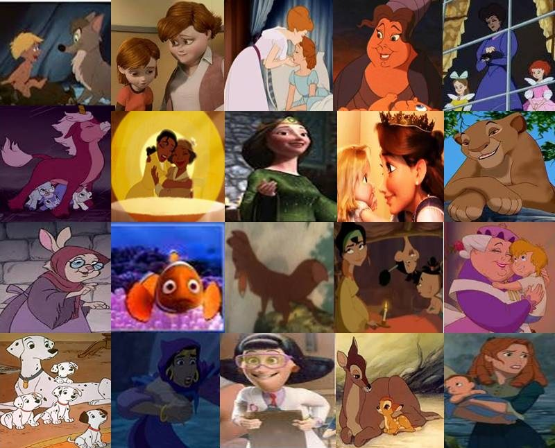 disney moms and mothers in movies part 1 by dramamasks22