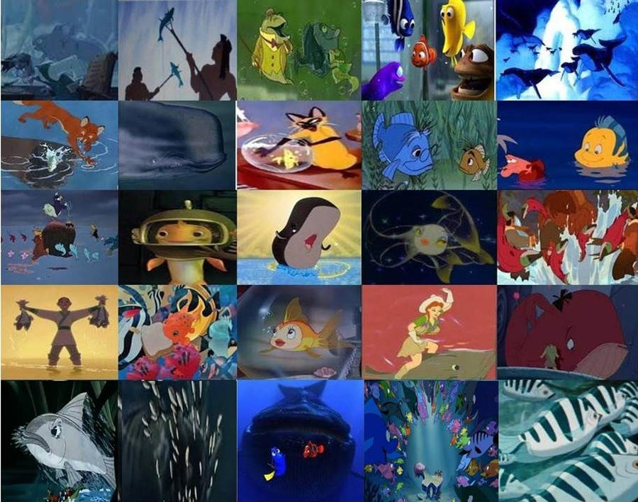 Disney Fish and Disney Whales in Movies by dramamasks22 on DeviantArt