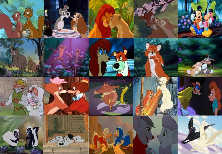 Disney Animal Couples in Movies by dramamasks22 on DeviantArt