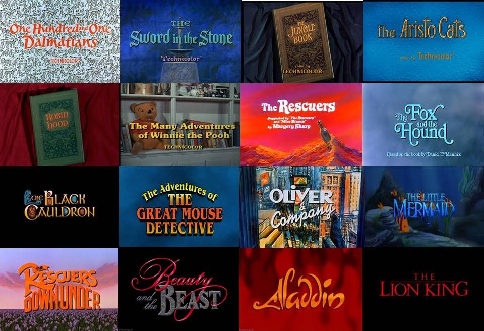 disney opening titles in movies part 2 by dramamasks22 on