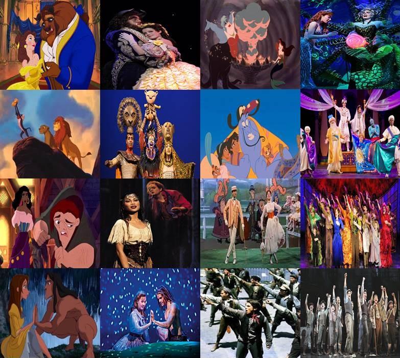 Disney Movies Turned Broadway by dramamasks22 on DeviantArt