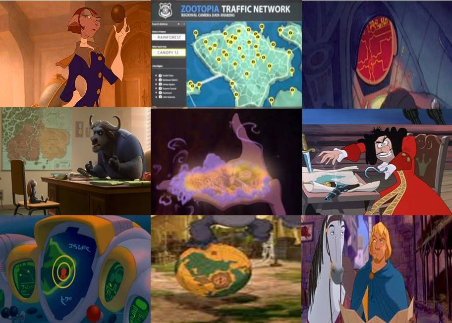 Disney Maps In Movies Part 4 By Dramamasks22 On Deviantart